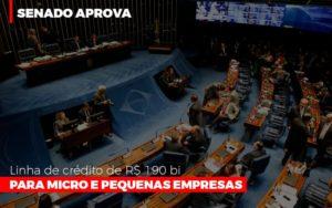 Senado Aprova Linha De Crédito De R$190 Bi Para Micro E Pequenas Empresas Notícias E Artigos Contábeis - Pontual Contadores & Associados