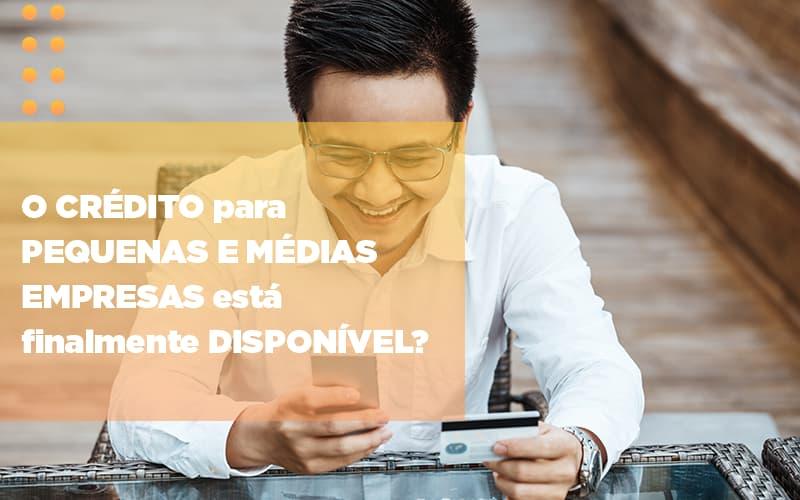 O Credito Para Pequenas E Medias Empresas Esta Finalmente Disponivel Notícias E Artigos Contábeis - Pontual Contadores & Associados