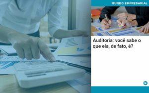 Auditoria Voce Sabe O Que Ela De Fato E - Pontual Contadores & Associados
